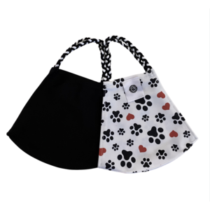 Pomchies 2 pack of Reusable Face masks - Puppy Dog Paws & Solid Black (Ages 6-Adult) FINAL SALE