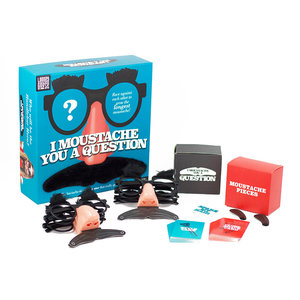 Professor Puzzle I Moustache You a Question - Trivia Game - Race against each other to grow the longest mustache! Game - Ages 8+