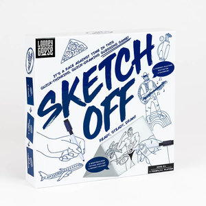 Professor Puzzle Sketch Off - Quick-Thinking, Quick-Drawing Guessing Game - Ages 8+