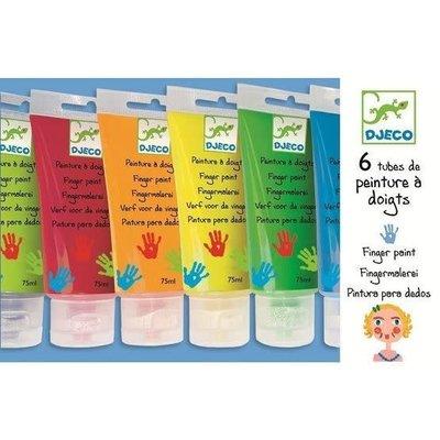 Djeco Finger Paint (Set of 6 Tubes)