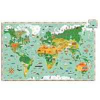 Djeco Observation Puzzle - World Animals + Booklet