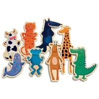 Djeco Wooden Magnetics Crazy Animals