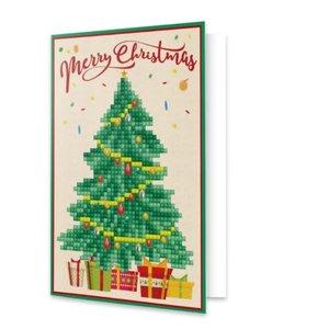 Diamond Dotz Merry Christmas Tree - Dotz Greeting Card