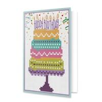 Diamond Dotz Happy Birthday Cake - Dotz Greeting Card