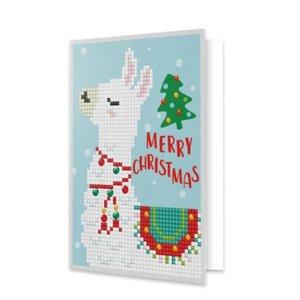 Diamond Dotz Merry Christmas Llama - Dotz Greeting Card