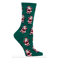 Hot Sox (Womens) Santa with Presents Socks - Forest
