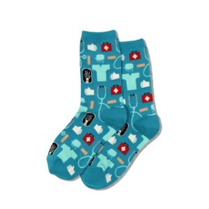 Hot Sox (Womens) Medical Socks - Turquoise
