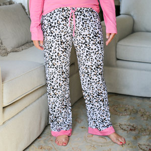 The Royal Standard Pajama Pants - Leopard White/Black/Pink