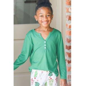 The Royal Standard Youth - Classic Henley Pajama Shirt - Green