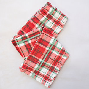The Royal Standard Youth Pajama Pants - Alpine Plaid Flannel - Red/White/Green