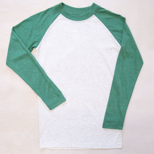 The Royal Standard Youth Raglan T-Shirt White/Green