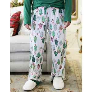 The Royal Standard Women's Treeful Pajama Pants - White/Green/Pink