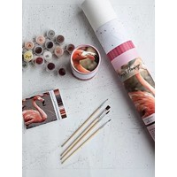 Pink Picasso Kits Pink Picasso - Frannie Flamingo - Paint By Numbers on Canvas