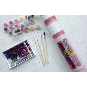 Pink Picasso Kits Pink Picasso - Brilliant Bouquet - Paint By Numbers on Canvas