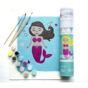 Pink Picasso Kits Pink Picasso - Kids Mermaid- Paint By Numbers on Canvas