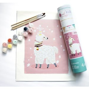 Pink Picasso Kits Pink Picasso - Kids Llamacorn - Paint By Numbers on Canvas