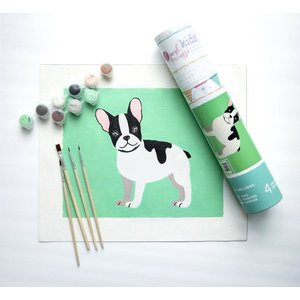 Pink Picasso Kits Pink Picasso - Kids Dog - Paint By Numbers on Canvas