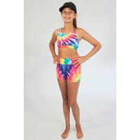 Candy Pink Rainbow Sport Short - Multi Color