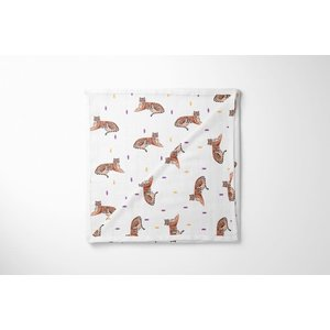 Nola Tawk Tigers Marching In - Organic Cotton Muslin Swaddle