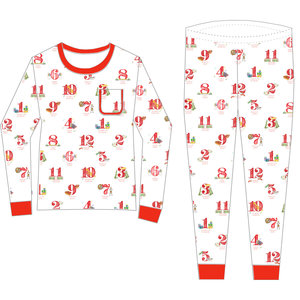 Nola Tawk (Adult) 12 Days of Louisiana Christmas Organic Cotton Pajama Set