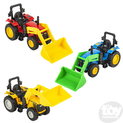 """The Toy Network Die-cast 6"""" Scoop Tractor"""