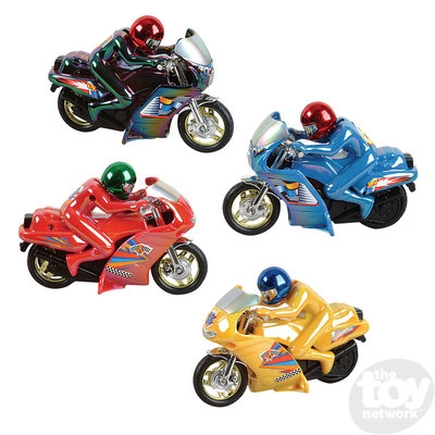 The Toy Network Pull Back Motorcycle - 5.5""