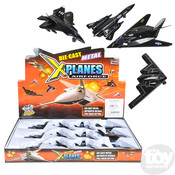 """The Toy Network Diecast 5"""" Pullback Stealth Bomber Airplane"""