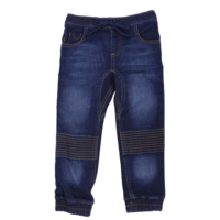 Korango Jeans - Dark Denim Knit Pants with Patches on Knees