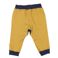Korango Pants - Soft Waisted Chinos - Mustard/Rust with Blue Waist & Drop Crotch