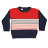 Korango Autumn Class Knit Sweater - Blue/Red/White Stripes