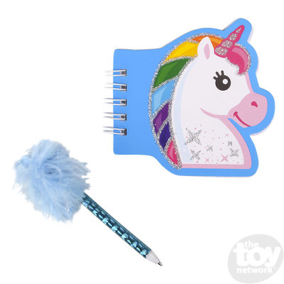 "The Toy Network 3.5"" Unicorn 0tebook with Feather Pen"