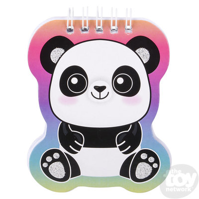 The Toy Network Panda Notebook With Feather Pen