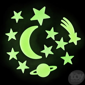 The Toy Network Glow In Dark Star And Moon Stick Ons