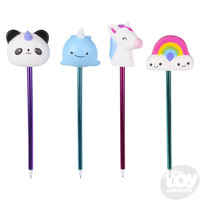 The Toy Network Squishie Slow-Rise Magical Pen - your choice of panda, narwhal, unicorn or rainbow
