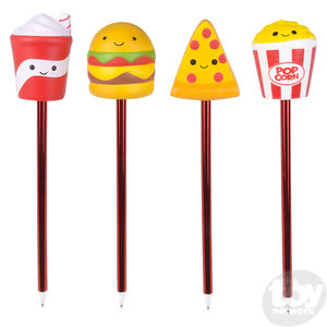 The Toy Network Squishie Slow Rise Fast Food Pen - your choice of shake, hamburger, pizza or popcorn