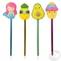 The Toy Network Squishie Slow-Rise Cool Pen - your choice of mermaid, pineapple, avocado or ice cream cone