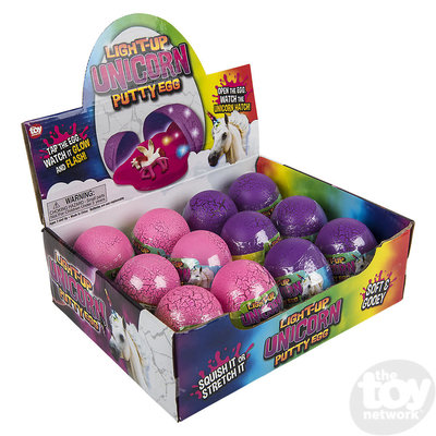 The Toy Network Light-up Unicorn Putty Egg