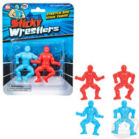 The Toy Network Sticky Wrestlers - Stretch and Stick Them!