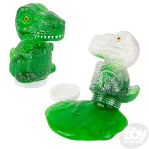 The Toy Network Dinosaur Slime (in CLEAR plastic dino shaped container)