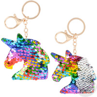 The Toy Network Flip Sequin Unicorn Keychain