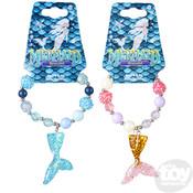 The Toy Network Mermaid Tail Beaded Charm Bracelet