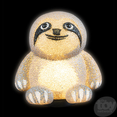 """The Toy Network Sloth Sparkle Lamp - 7.5"""""""