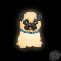 """The Toy Network Sparkle Pug Dog Lamp - 8"""""""