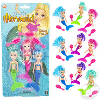 The Toy Network Mermaid Doll Fashion Play Set - 3 Mermaids in each set