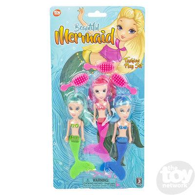 The Toy Network Mermaid Doll Fashion Play Set - 3 Mermaids in each set