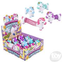 The Toy Network Rainbow Spring Slinky with Unicorn Head