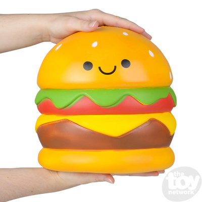 "The Toy Network Jumbo Squishie Hamburger (9.5"")"