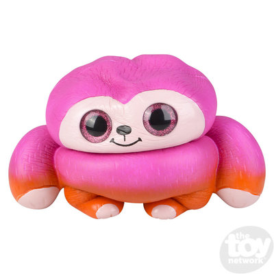 "The Toy Network Jumbo Sparkle Eye Sloth Squishie (10"")"