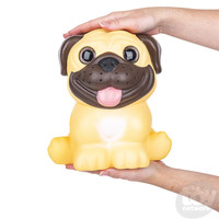 The Toy Network Jumbo Sparkle Eye Pug Dog Squishie