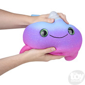 The Toy Network Jumbo Sparkle Eye Narwhal Squishie